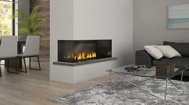 City Chicago Corner 40 Gas Fireplace