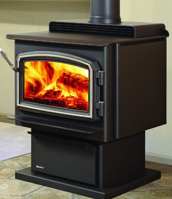Regency Classic F2400 Wood Stoveour Floor Display Is On