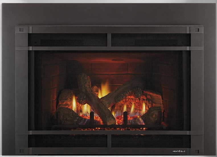 heat glo escape gas firebrick insert portland fireplace shop. Black Bedroom Furniture Sets. Home Design Ideas