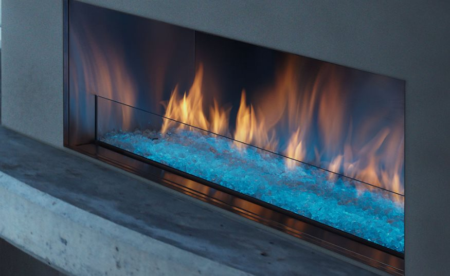 Gas Fireplace Blue Flame Always On Fireplaces