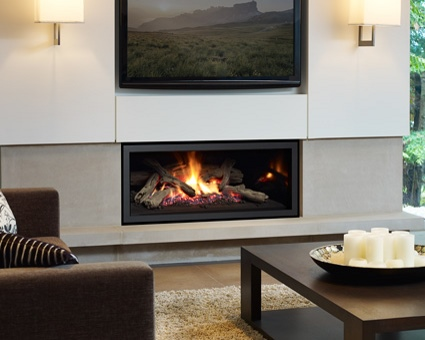 Add a warm Contemporary<br /> Gas Fireplace to your home