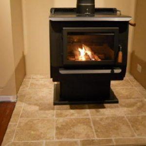 Finishing touches on Blaze King wood stove