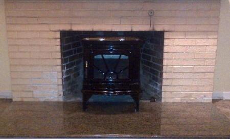 Wood stove ran into wood burning fireplace