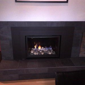 Gas insert with spa stones