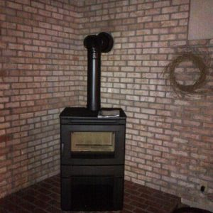 Contemporary wood stove