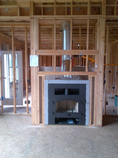 wood burning fireplace in new construction portland ForNew Construction Fireplace