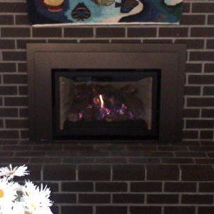 Gas insert with bronze surround
