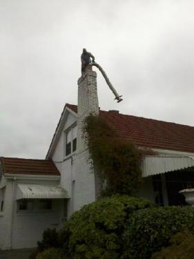 Wood chimney liner installation