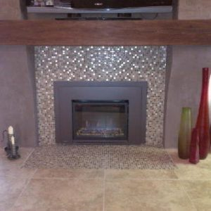 Gas Insert fireplace remodel
