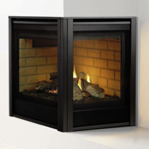 Heat & Glo Corner Series<br />Right Facing Gas Fireplace