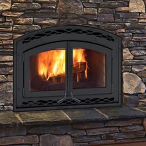 Montecito Estate Wood Fireplace